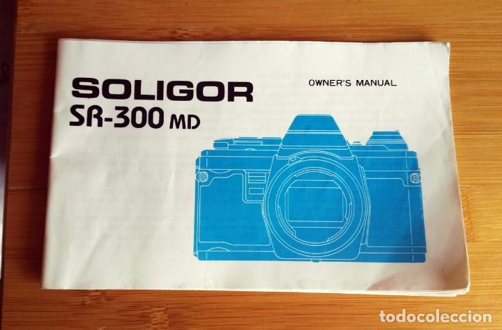 OWNER´S MANUAL CAMARA SOLIGOR SR-300MD (Cámaras Fotográficas - Catálogos, Manuales y Publicidad)