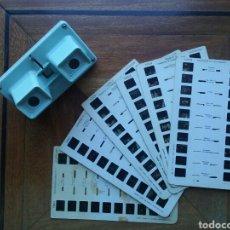 Cámara de fotos: VISOR ESTEREOSCOPICO SIMPLEX STEREOSCOPE LESTRADE Y 6 FICHAS DE LOURDES. Lote 89158443