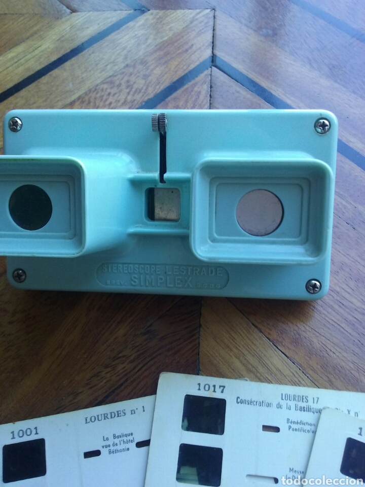 Cámara de fotos: Visor Estereoscopico Simplex Stereoscope Lestrade y 6 fichas de Lourdes - Foto 2 - 89158443