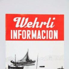 Cámara de fotos: FOLLETO PUBLICITARIO DE FOTOGRAFÍA - WEHRLI INFORMACIÓN - HASSELBLAD, POLAROID, LINHOF...-AÑOS 60-70. Lote 91359670