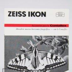 Cámara de fotos: FOLLETO PUBLICITARIO DE FOTOGRAFÍA - ZEISS IKON. ACCESORIOS PARA CONTAFLEX - AÑOS 60-70 . Lote 91360585