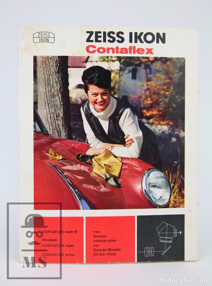 FOLLETO PUBLICITARIO DE FOTOGRAFÍA - ZEISS IKON. CÁMARA DE FOTOS CONTAFLEX - AÑOS 60-70 (Cámaras Fotográficas - Catálogos, Manuales y Publicidad)