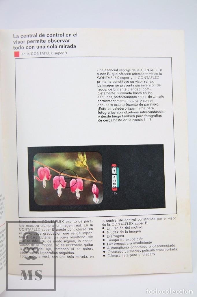 Cámara de fotos: Folleto Publicitario de Fotografía - Zeiss Ikon. Cámara de Fotos Contaflex - Años 60-70 - Foto 2 - 91360710