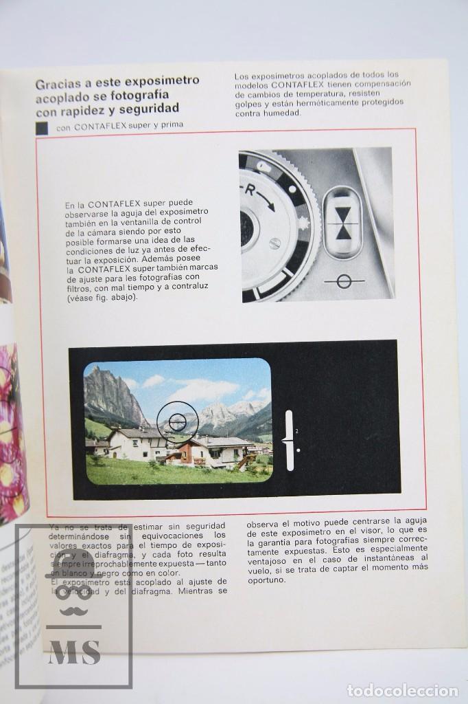 Cámara de fotos: Folleto Publicitario de Fotografía - Zeiss Ikon. Cámara de Fotos Contaflex - Años 60-70 - Foto 3 - 91360710