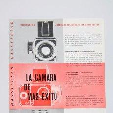 Cámara de fotos: FOLLETO PUBLICITARIO DE FOTOGRAFÍA - CÁMARA DE FOTOS HASSELBLAD - AÑOS 60-70 . Lote 91360825