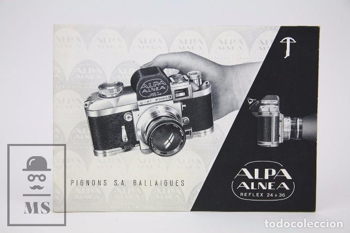 FOLLETO PUBLICITARIO DE FOTOGRAFÍA - CÁMARA DE FOTOS ALPA ALNEA- AÑOS 60-70 (Cámaras Fotográficas - Catálogos, Manuales y Publicidad)