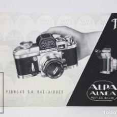 Cámara de fotos: FOLLETO PUBLICITARIO DE FOTOGRAFÍA - CÁMARA DE FOTOS ALPA ALNEA- AÑOS 60-70 . Lote 91361470