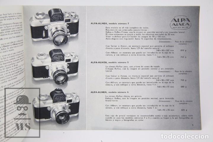 Cámara de fotos: Folleto Publicitario de Fotografía - Cámara de Fotos Alpa Alnea- Años 60-70 - Foto 2 - 91361470