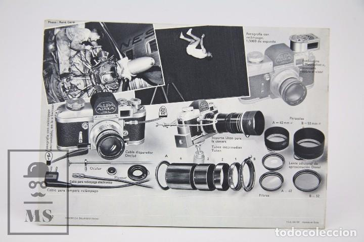 Cámara de fotos: Folleto Publicitario de Fotografía - Cámara de Fotos Alpa Alnea- Años 60-70 - Foto 3 - 91361470