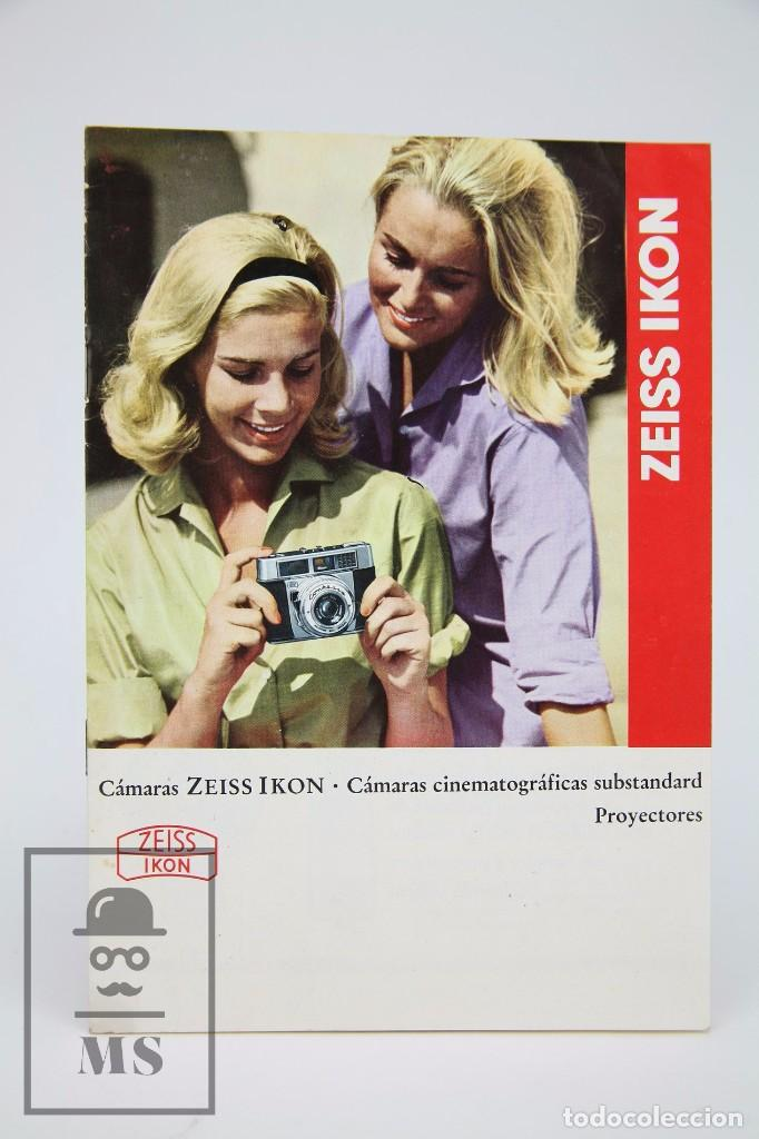 FOLLETO PUBLICITARIO DE FOTOGRAFÍA - CÁMARA DE FOTOS ZEISS IKON - AÑOS 60-70 (Cámaras Fotográficas - Catálogos, Manuales y Publicidad)
