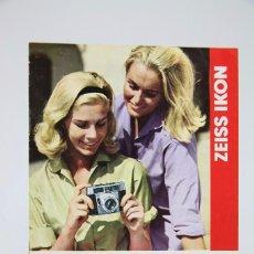 Cámara de fotos: FOLLETO PUBLICITARIO DE FOTOGRAFÍA - CÁMARA DE FOTOS ZEISS IKON - AÑOS 60-70 . Lote 91361865