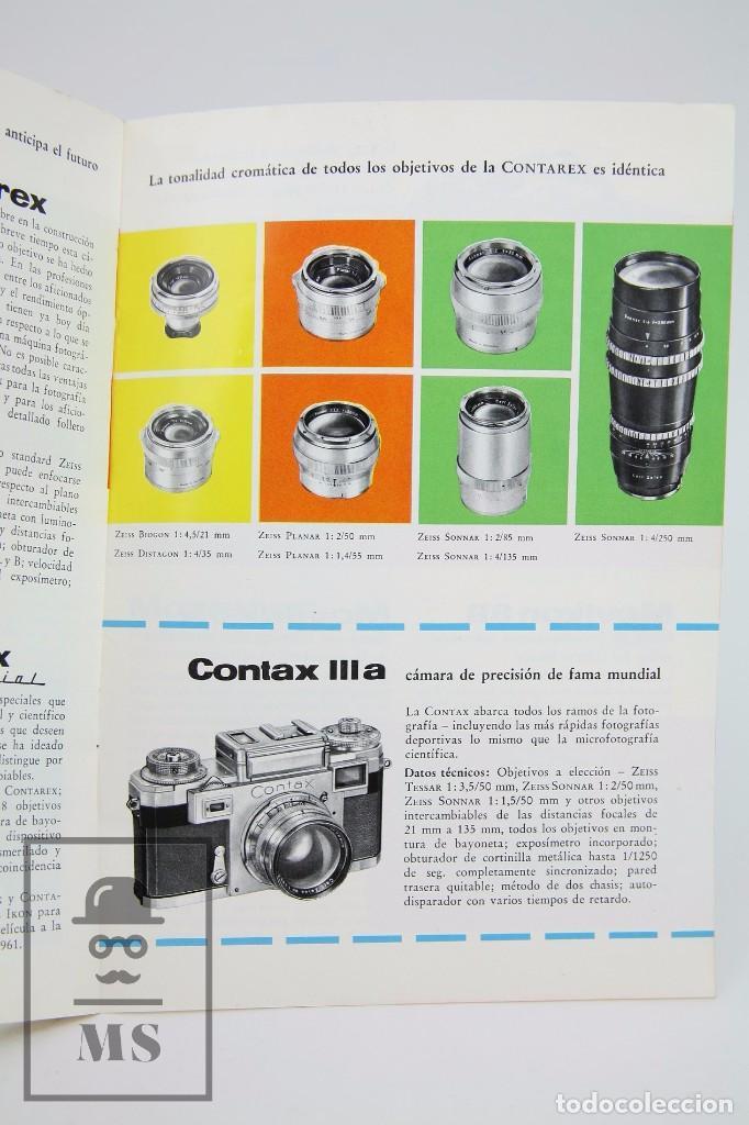 Cámara de fotos: Folleto Publicitario de Fotografía - Cámara de Fotos Zeiss Ikon - Años 60-70 - Foto 2 - 91361865