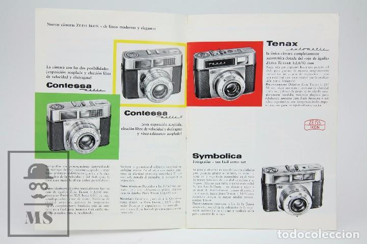 Cámara de fotos: Folleto Publicitario de Fotografía - Cámara de Fotos Zeiss Ikon - Años 60-70 - Foto 3 - 91361865