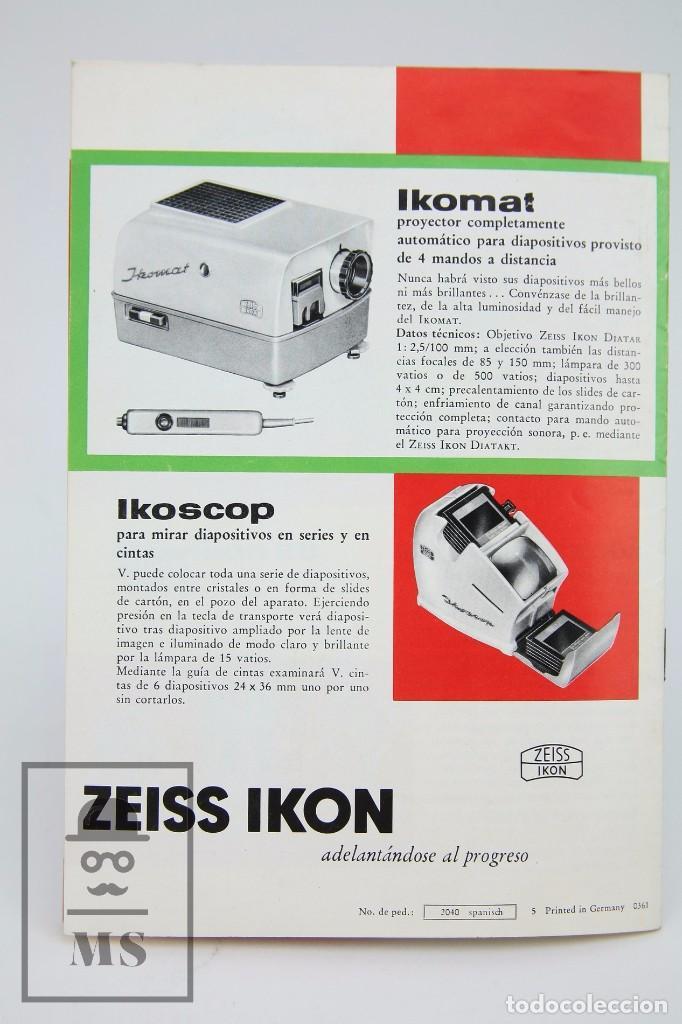 Cámara de fotos: Folleto Publicitario de Fotografía - Cámara de Fotos Zeiss Ikon - Años 60-70 - Foto 4 - 91361865