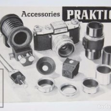 Cámara de fotos: FOLLETO PUBLICITARIO EN INGLÉS - ACCESSORIES / ACCESORIOS PRAKTICA - AÑOS 60-70 . Lote 91362105