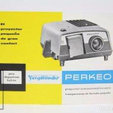 Folleto Publicitario - Proyector para Diapositivas Perkeo de Voigtlander - Años 60-70
