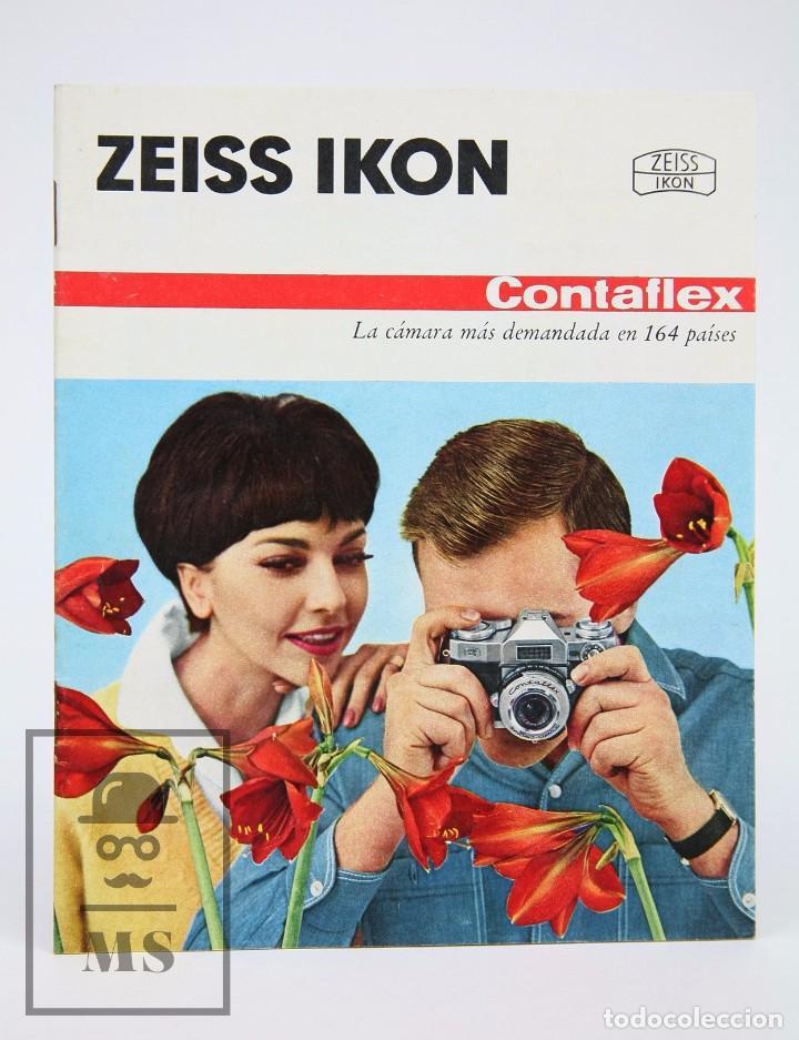 FOLLETO PUBLICITARIO DE FOTOGRAFÍA - CÁMARA DE FOTOS ZEISS IKON CONTAFLEX - AÑOS 60-70 (Cámaras Fotográficas - Catálogos, Manuales y Publicidad)