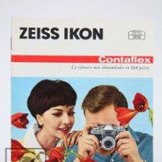 Cámara de fotos: FOLLETO PUBLICITARIO DE FOTOGRAFÍA - CÁMARA DE FOTOS ZEISS IKON CONTAFLEX - AÑOS 60-70 . Lote 91362455