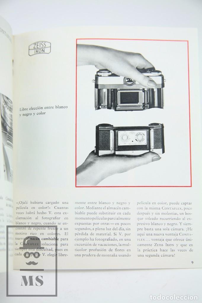 Cámara de fotos: Folleto Publicitario de Fotografía - Cámara de Fotos Zeiss Ikon Contaflex - Años 60-70 - Foto 2 - 91362455
