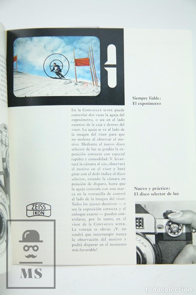 Cámara de fotos: Folleto Publicitario de Fotografía - Cámara de Fotos Zeiss Ikon Contaflex - Años 60-70 - Foto 3 - 91362455