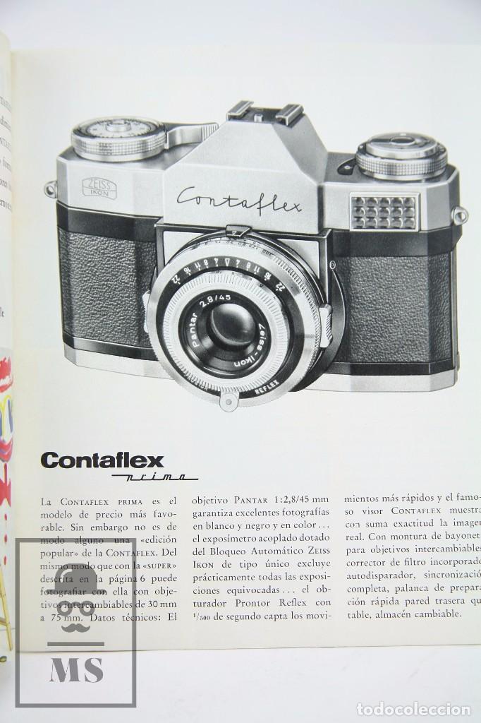 Cámara de fotos: Folleto Publicitario de Fotografía - Cámara de Fotos Zeiss Ikon Contaflex - Años 60-70 - Foto 4 - 91362455