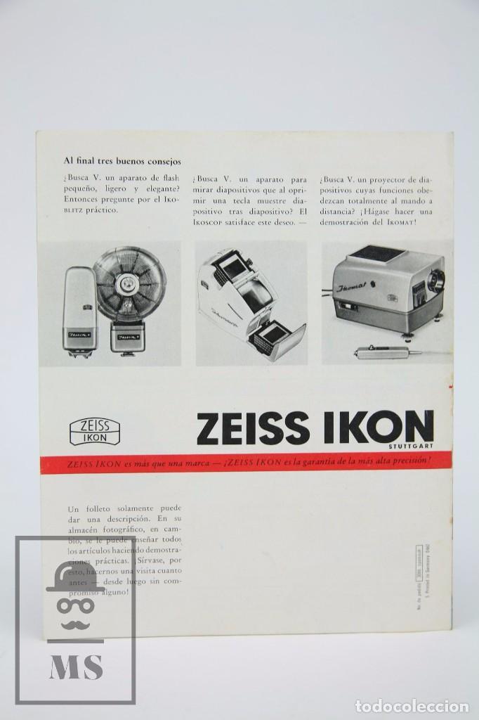 Cámara de fotos: Folleto Publicitario de Fotografía - Cámara de Fotos Zeiss Ikon Contaflex - Años 60-70 - Foto 5 - 91362455