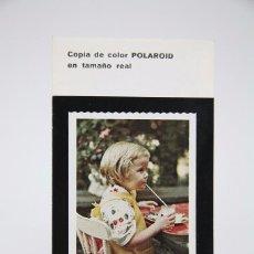 Cámara de fotos: FOLLETO PUBLICITARIO DE FOTOGRAFÍA - CÁMARA DE FOTOS POLAROID - AÑOS 60-70 . Lote 91362525