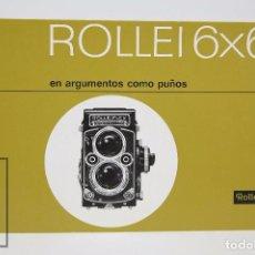 Cámara de fotos: FOLLETO PUBLICITARIO DE FOTOGRAFÍA - CÁMARA DE FOTOS ROLLEI 6X6 - AÑOS 60-70. Lote 91367400
