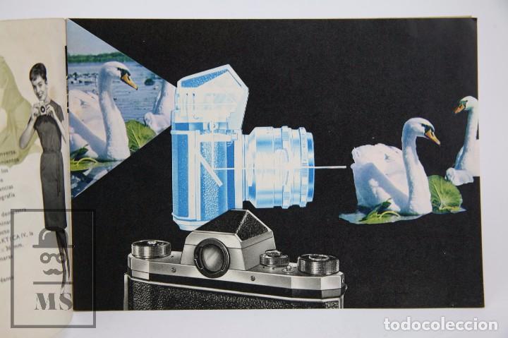 Cámara de fotos: Folleto Publicitario de Fotografía - Cámara de Fotos Praktica IV - IV B - Años 60-70 - Foto 3 - 91367635