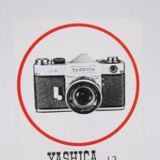 Cámara de fotos: HOJITA PUBLICITARIA DE FOTOGRAFÍA - CÁMARA DE FOTOS YASHICA J-3 - AÑOS 60. Lote 91431645