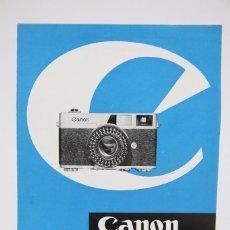 Cámara de fotos: FOLLETO PUBLICITARIO DE FOTOGRAFÍA - CÁMARA DE FOTOS CANON CANONET - AÑOS 60. Lote 91432125