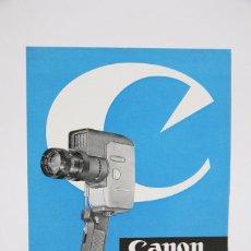 Cámara de fotos: FOLLETO PUBLICITARIO - CÁMARA CINEMATOGRÁFICA CANON REFLEX ZOOM 8 - AÑOS 60. Lote 91432170