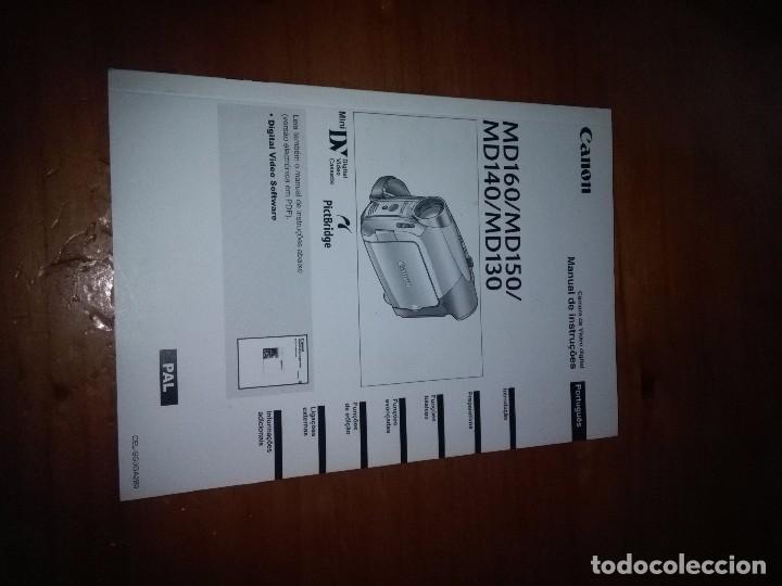 MANUAL DE INSTRUCCIONES CANON. MD160/MD150/ MD140/ MD130. ESPAÑOL Y PORTUGUEL. EST20B6 (Cámaras Fotográficas - Catálogos, Manuales y Publicidad)