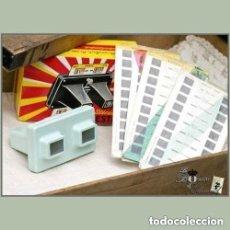 Cámara de fotos: VISOR STEREOSCOPE LESTRADE SOUVENIR DE LOURDES VINTAGE 10 PLANCHAS DE IMAGENES . Lote 92285090