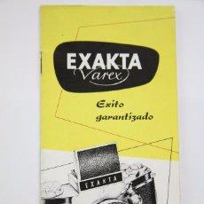 Cámara de fotos: FOLLETO PUBLICITARIO DE FOTOGRAFÍA - CÁMARA DE FOTOS EXAKTA VAREX - AÑOS 60. Lote 92708475