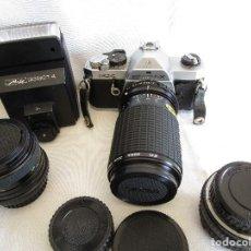 Cámara de fotos: CAMARA FOTOGRAFICA PENTAX MX CON FUNDA Y DOS OBJETIVOS EXTRA. Lote 92717475