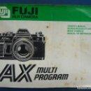 Cámara de fotos: MANUAL DE INSTRUCCIONES FUJI SLR CAMERA. AX MULTI PROGRAM. Lote 95046331