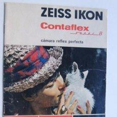 Cámara de fotos: ZEISS IKON - CONTAFLEX SUPER B / FOLLETO INFORMACION SOBRE LA CAMARA / ESPAÑOL. Lote 95947355
