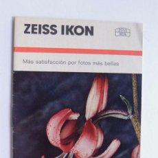 Cámara de fotos: ZEIS IKON / FOLLETO INFORMACION CAMARA FOTOGRAFICA / TAMAÑO PEQUEÑO. Lote 95947535