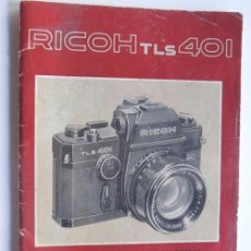 Cámara de fotos: RICOH - TLS 401 / MANUAL DE INSTRUCCIONES CAMARA FOTOGRAFICA / ESPAÑOL - INGLES - FRANCES. Lote 95947739