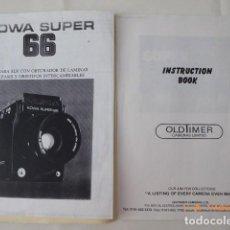 Cámara de fotos: KOWA SUPER 66, INSTRUCCIONES BOOK, FOTOCOPIADO, INGLES, 38 PAG.. Lote 96423315
