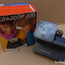 Cámara de fotos: VISOR DE DIAPOSITIVAS AGFA..AGFASCOP 200. Y CAJA ORIGINAL. ALEMANIA..AÑOS 80-90.FUNCIONA.. Lote 97069915