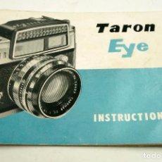 Cámara de fotos: INSTRUCIONES CAMARA TARON EYE, EN INGLÉS. 14X10,5CM.. Lote 97670679