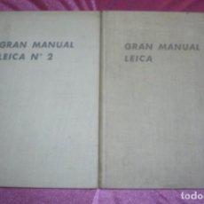 Cámara de fotos: GRAN MANUAL LEICA 2 TOMOS - MORGAN, WILLARD D LESTER, HENRY M LESTER EDICIONES OMEGA 1953. Lote 98358731
