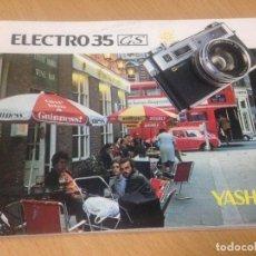 Cámara de fotos: CATALOGO MANUAL INSTRUCCIONES CÁMARA FOTOS YASHICA ELECTRO 35 GS. Lote 98496167
