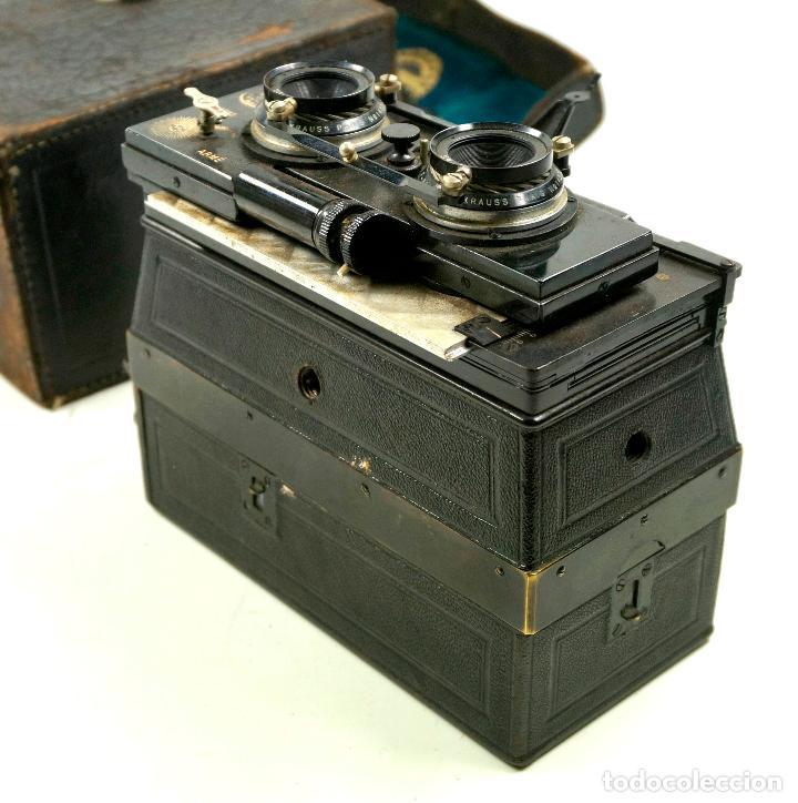 Cámara de fotos: cámara estereoscópica Gaumont grand prix, para placas de cristal 9x13 cm. - Foto 3 - 99617211