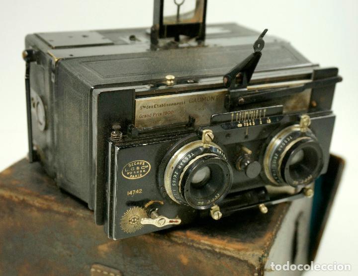 Cámara de fotos: cámara estereoscópica Gaumont grand prix, para placas de cristal 9x13 cm. - Foto 4 - 99617211