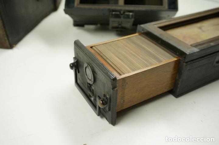 Cámara de fotos: cámara estereoscópica Gaumont grand prix, para placas de cristal 9x13 cm. - Foto 5 - 99617211