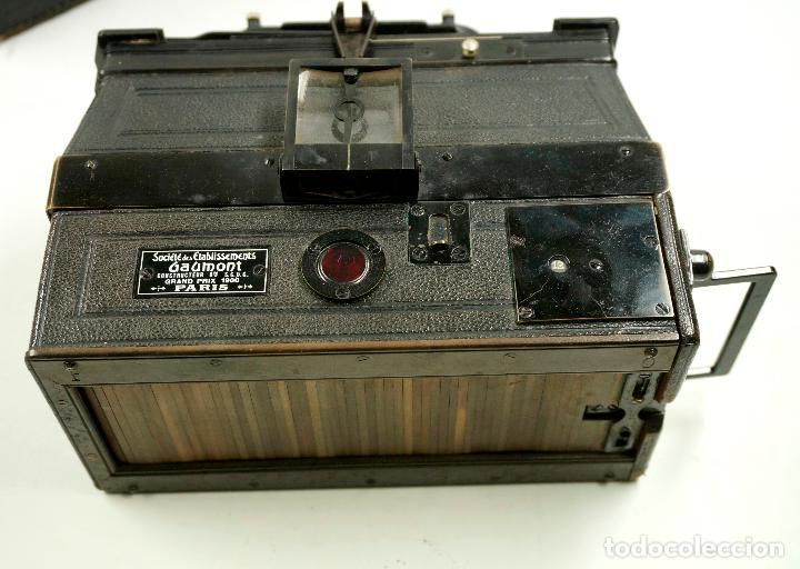 Cámara de fotos: cámara estereoscópica Gaumont grand prix, para placas de cristal 9x13 cm. - Foto 6 - 99617211