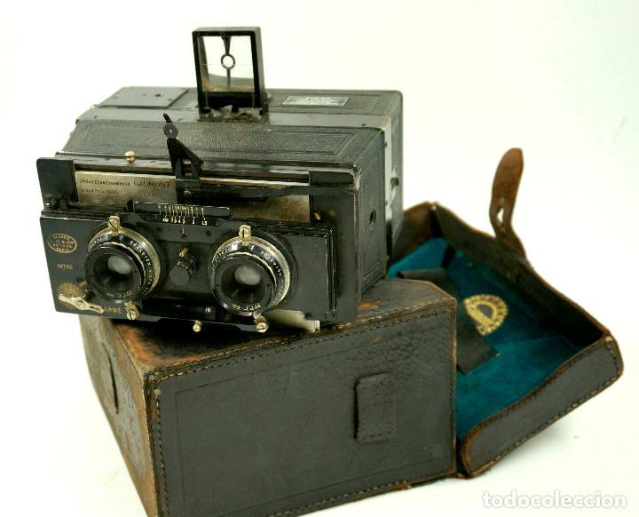 Cámara de fotos: cámara estereoscópica Gaumont grand prix, para placas de cristal 9x13 cm. - Foto 7 - 99617211